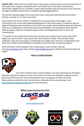Evolution Soccer Club is Founding Member of new USSSA League
