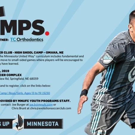 Evolution Soccer Club Hosting Minnesota United Summer Camp