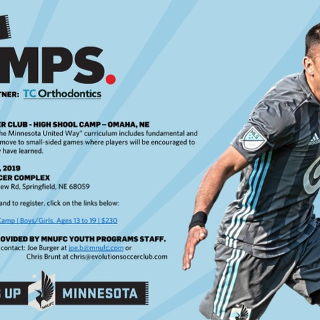 Evolution Soccer Club Hosting Minnesota United Summer Camp
