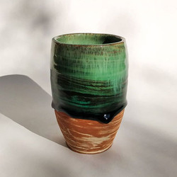 Another homemade glaze on marbled clay �