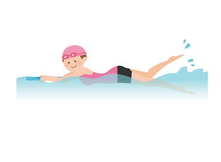 効率の良いキックの打ち方①平泳ぎ以外編