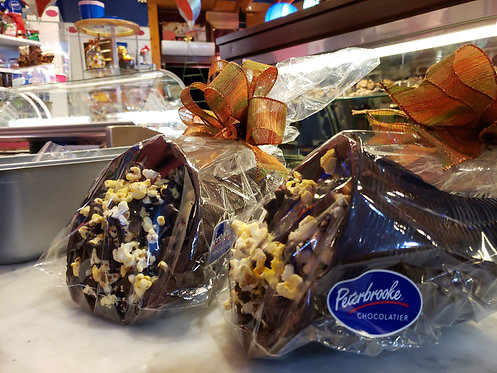Cornucopia Stuffed with Chocolate covered popcorn