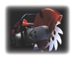 Warthog Ventilation Blade in a saw