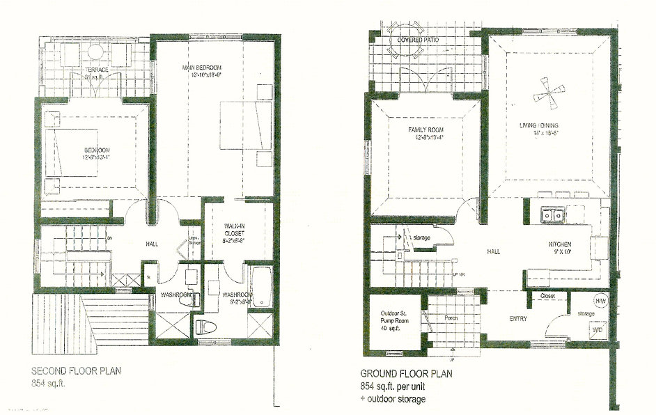 Fritholme Gardens 2 bed townhome floorplan