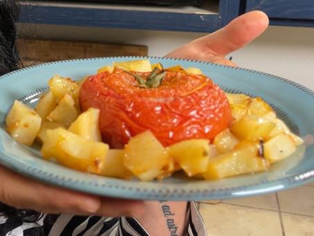 Pomodoro col Riso | Italian Stuffed Tomato Recipe