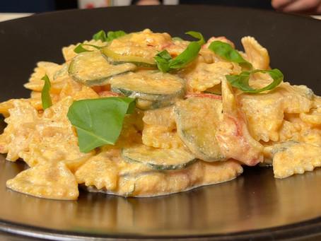 Farfalle with Zucchini, Tomato & Ricotta | Simple & Delicious Pasta Recipe