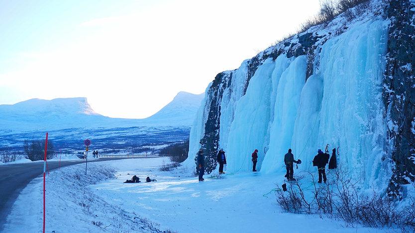 Ice climbing Abisko