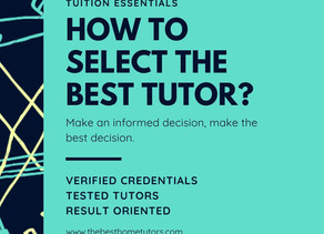 How to choose the best Home Tutor?