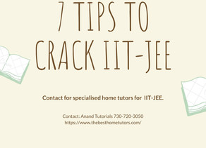 7 TIPS TO CRACK IIT-JEE.
