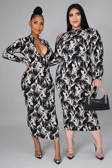 Snatched Midi Dress