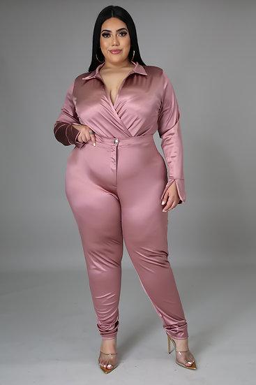 Satin Power Bodysuit Set