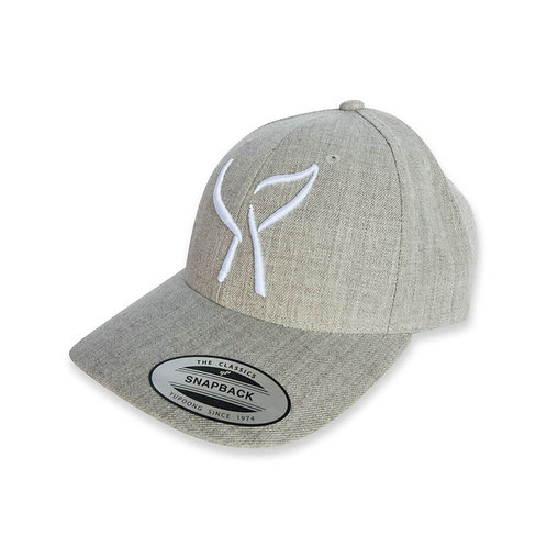 Wyland's Whale Tail Heather Grey Cap