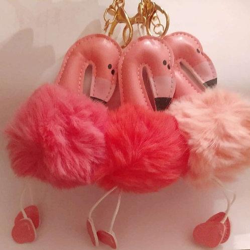 Pink Flamingo Keychains