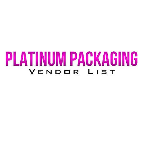 Platinum Packaging Vendor List
