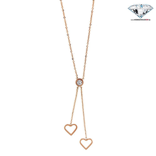 Kette TWO HEARTS