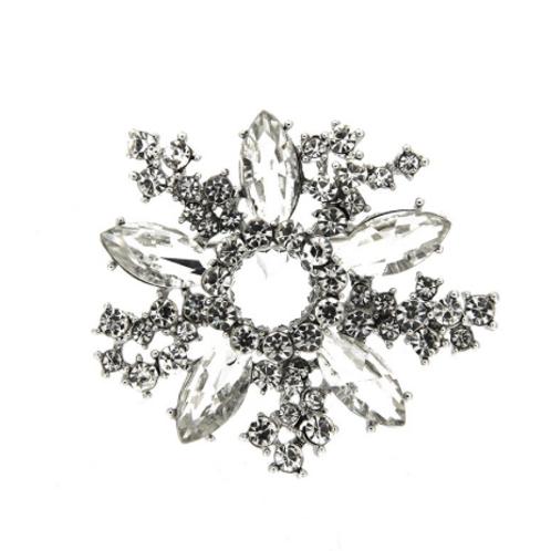 Brosche ANSA  silber/crystal