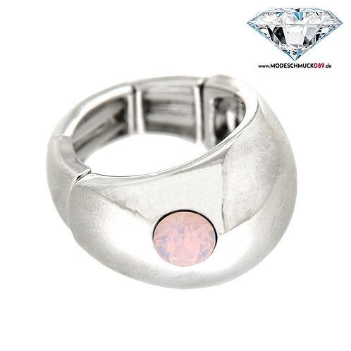 Ring TILA  silber/rose opal