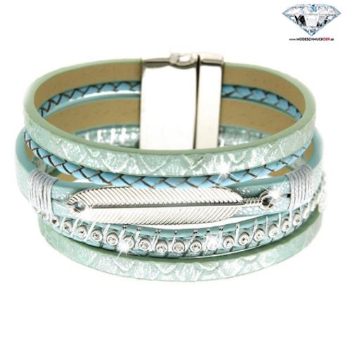 Armband PIADA   mint/silber/crystal