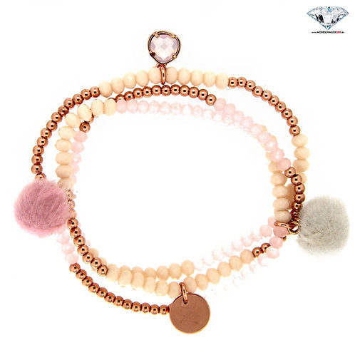 Armband BEADS AND CHARMS gold/rose