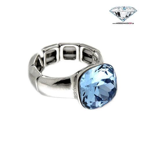 Ring DIVA silber/hellblau