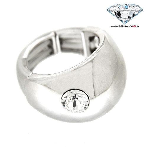 Ring TILA  silber/crystal
