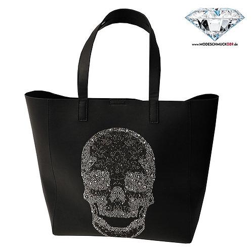 Tasche SKULL BIG   schwarz/crystal