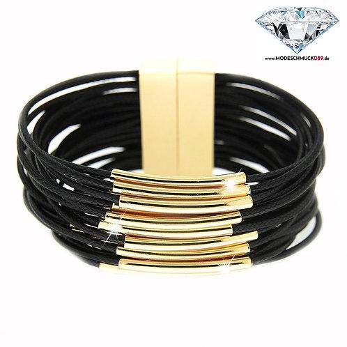 Armband LIV gold/schwarz