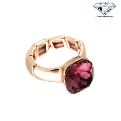 Ring DIVA rosegold/purple