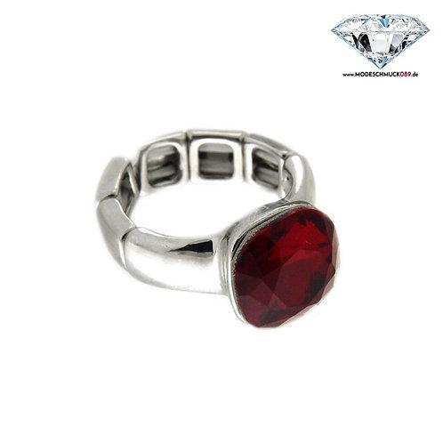 Ring DIVA silber/rot