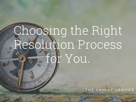 Choosing the Right Resolution Process for You