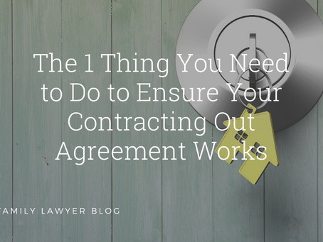 The 1 Thing You Need to Do to Ensure Your Contracting Out Agreement Works