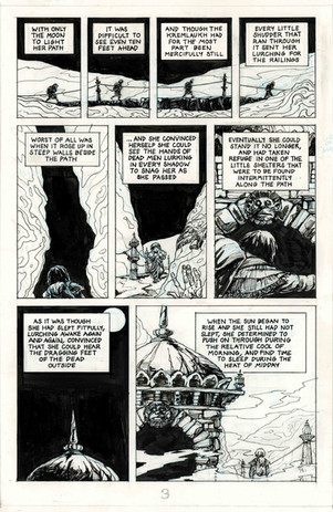 Un-edited page from 'The Last Days of Hell' comic.