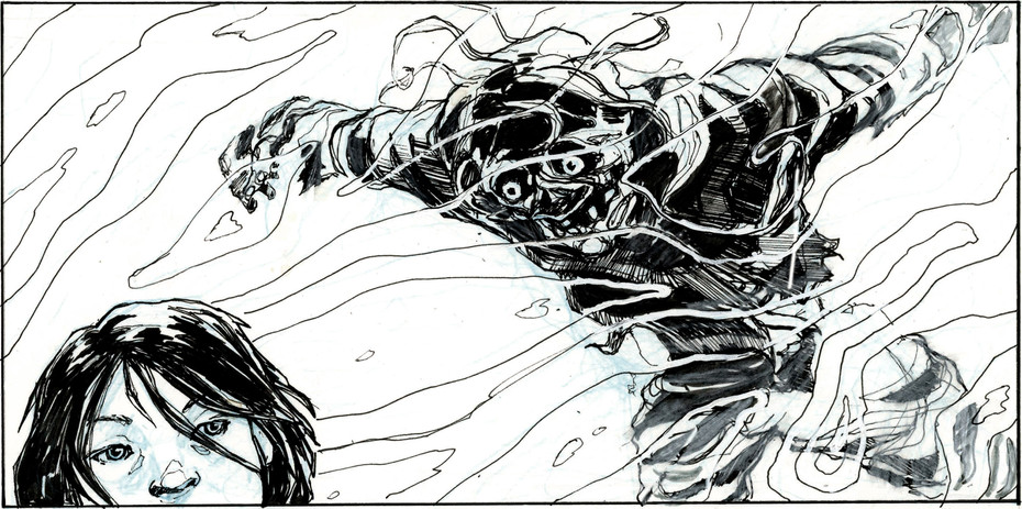 Isolated panel from The Last Days of Hell.