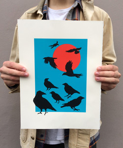 3 colour screenprint