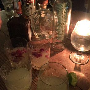 Mezcal margaritas, it's research.
