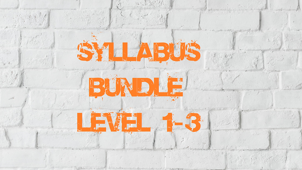 Syllabus Bundle (Levels 1-3)