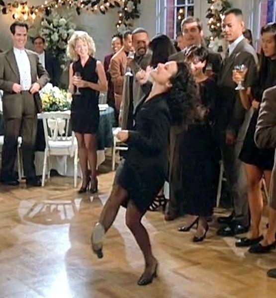 Elaine dancing on Seinfeld