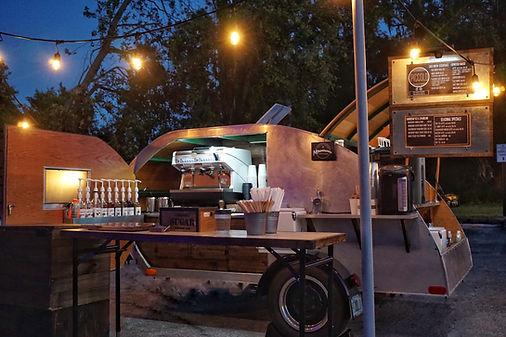 Teardrop Trailer coffee bar. Orlando, FL