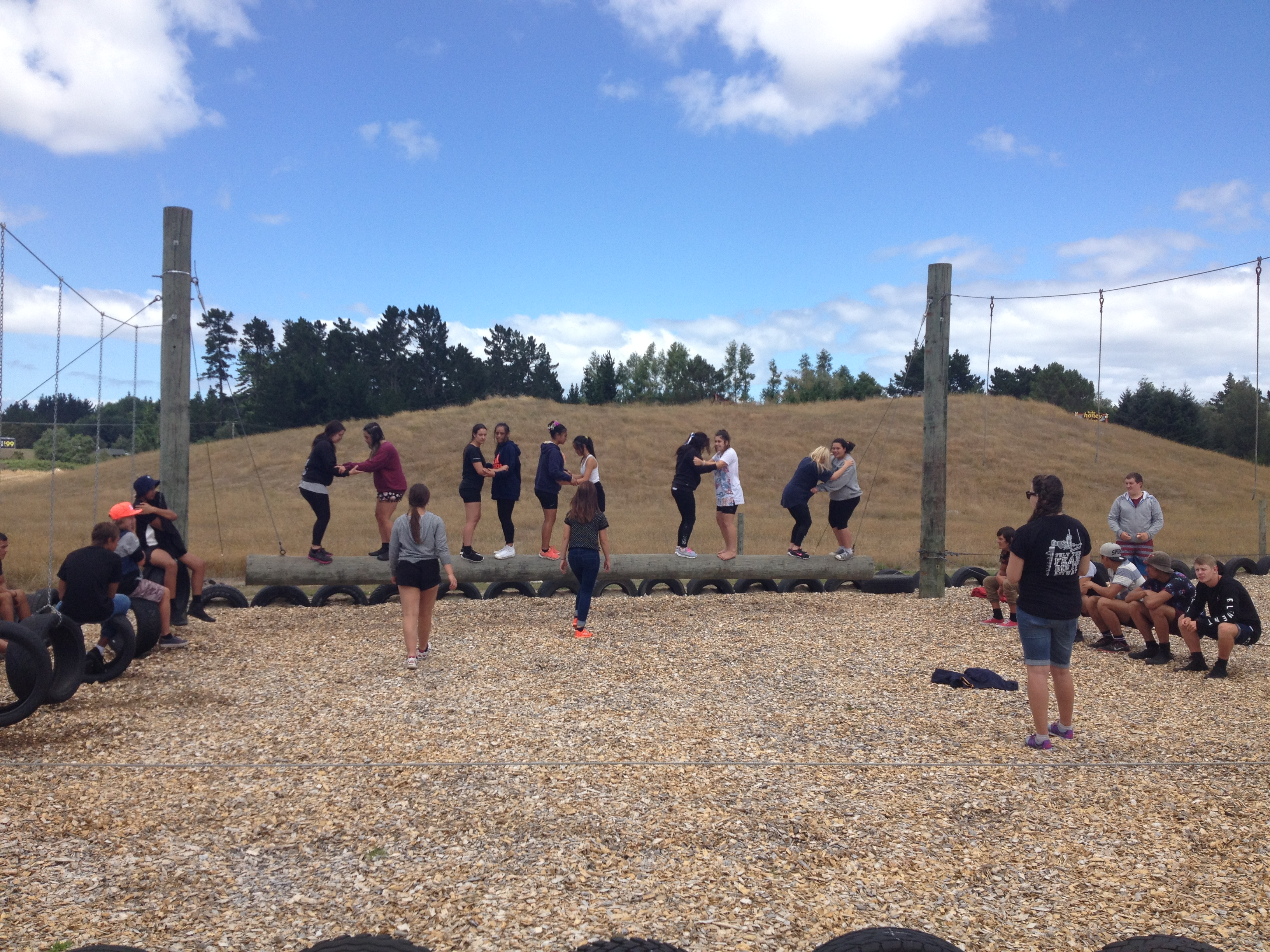 School Challenges on the Low Ropes