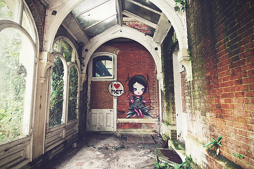 Abandoned School A3 Canvas