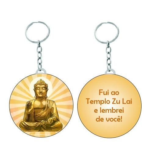 Chaveiro Redondo Personalizado - Buda/Templo Zu Lai