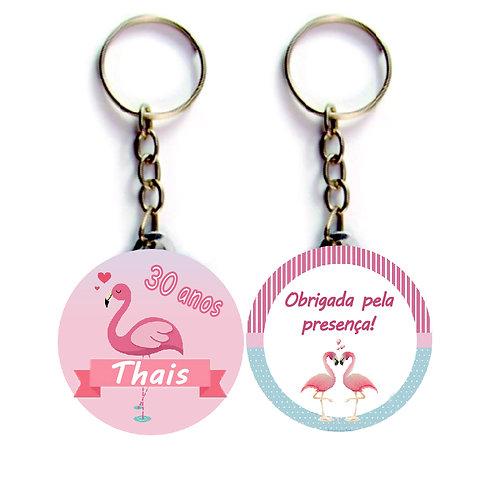 Chaveiro Festa Flamingo