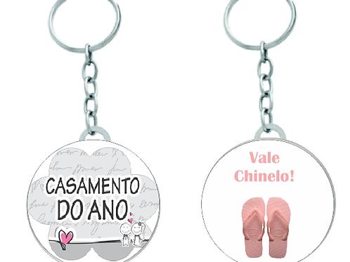 Chaveiro Chapinha Redondo Vale Presente