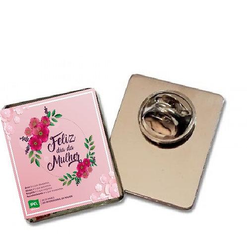 Botton Pin Personalizado Dia da Mulher