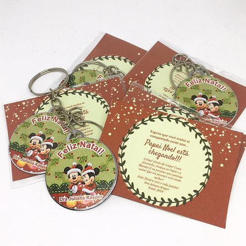 Chaveiro Natal Personalizado com Encarte
