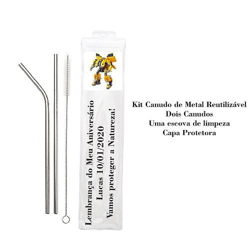kit Canudo Reutilizável - Embalagem Personalizada