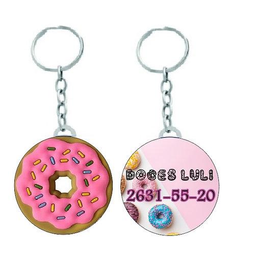 Chaveiro Redondo Donuts para Docerias Personalizado