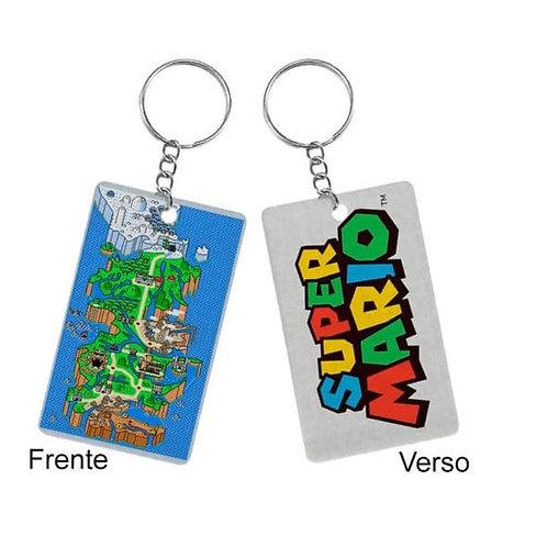 Chaveiro Quadrado Mario Bros