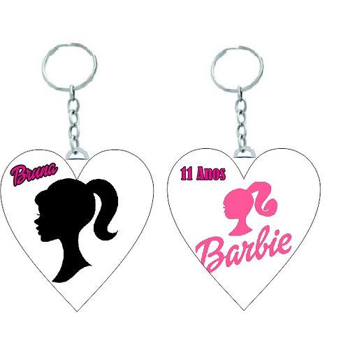 Chaveiro coração Barbie