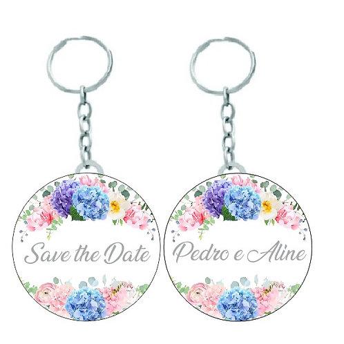 Chaveiro Redondo Save The Date